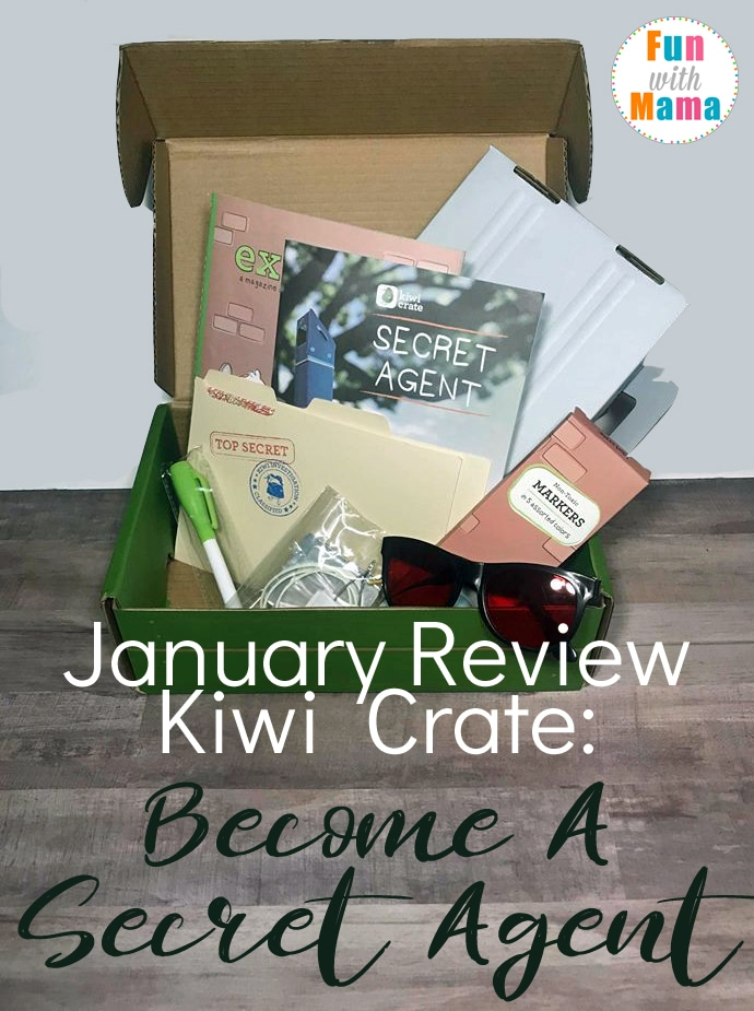 Kiwi Crate January Review: Become A Secret Agent