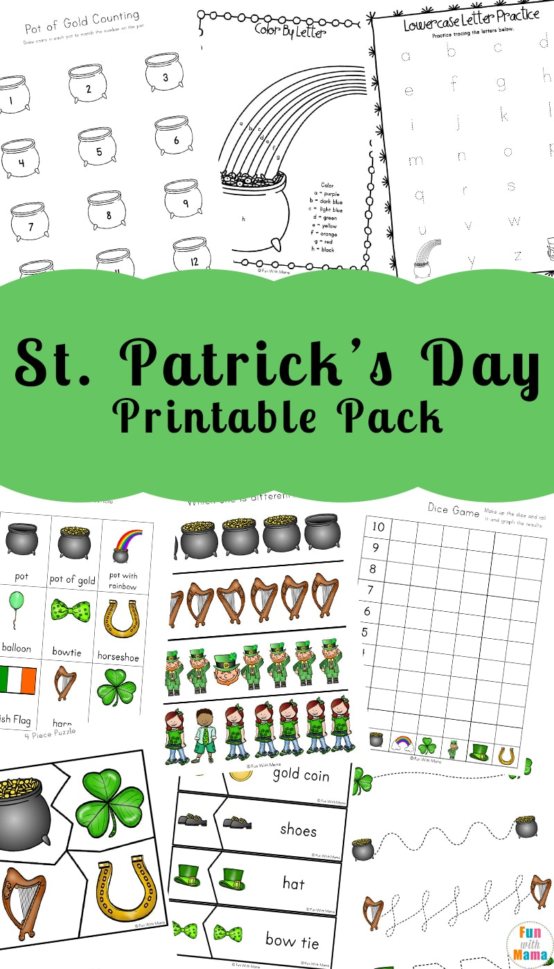 photograph regarding St Patricks Day Printable named St. Patricks Working day Coloring Webpages and Routines - Enjoyable with Mama