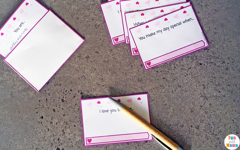 valentine's lunch notes for kids
