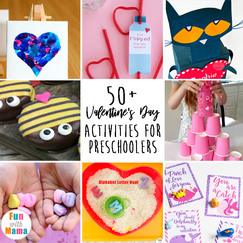 50+ Valentine's Day Activities For Preschoolers. Kids will love these Valentine and Love themed activities including sensory, crafts, STEM and more.