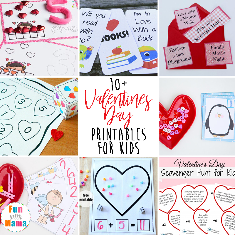 image about Kids Valentines Printable identified as 10+ Tremendous Pleasurable Valentines Working day Printables For Little ones