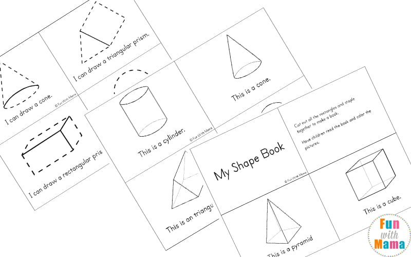 graphic about Printable Shape Book titled 3D Condition Worksheets - Enjoyable with Mama