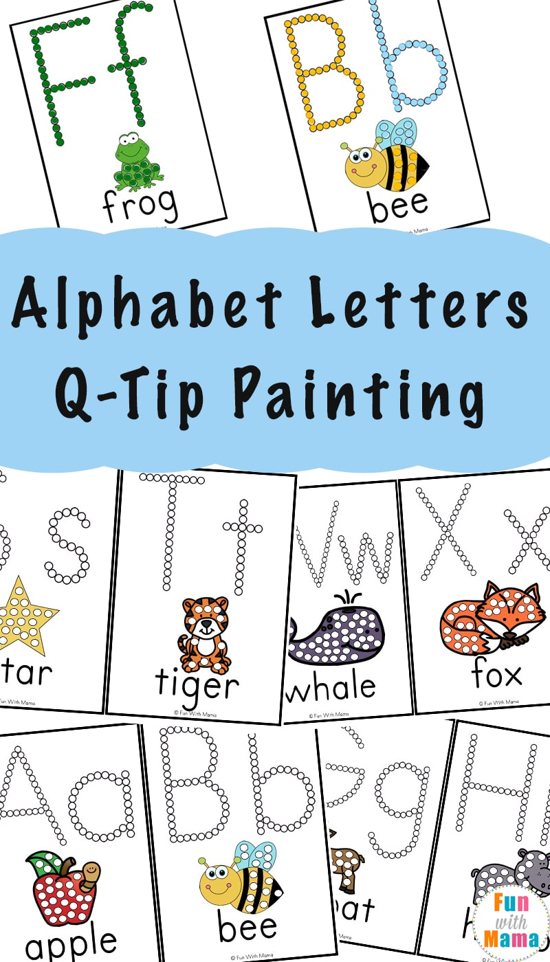 photo relating to Q Tip Painting Printable identify Alphabet Printables Q-Idea Portray - Enjoyment with Mama