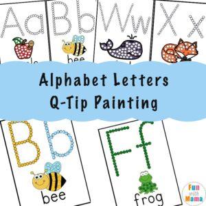 Alphabet Letters QTip Painting a I 300x300