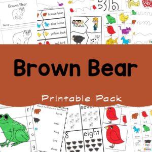 Brown Bear Printable Pack a 300x300