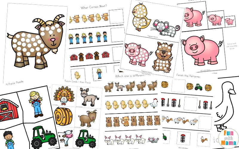 farm animal activities for preschoolers