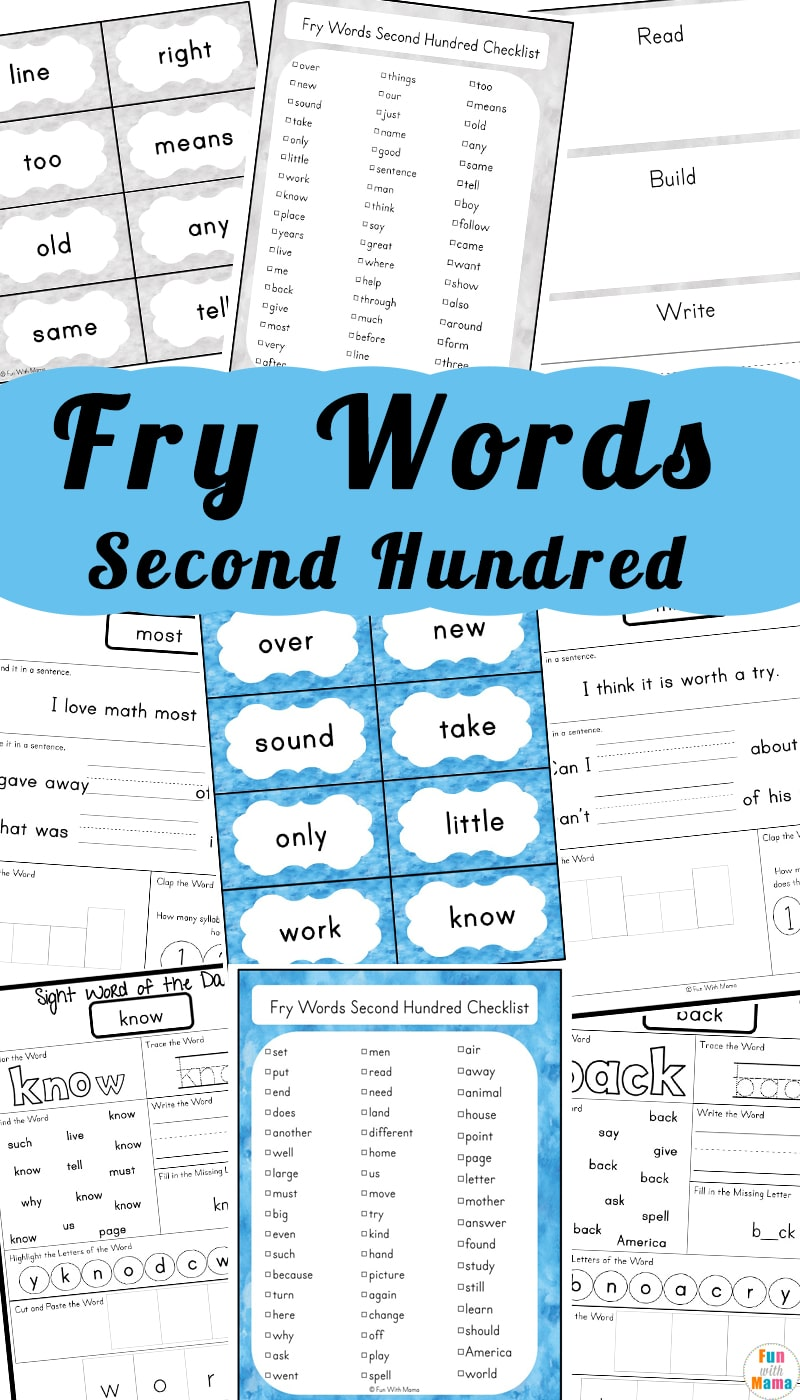 Fry 100 Sight Words Second Hundred - Fun with Mama