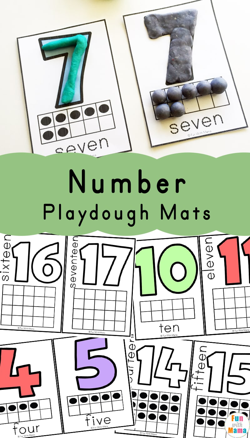 photograph about Printable Playdough Mats titled Amount Playdough Mats - Exciting with Mama