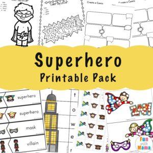 Superhero Printable Pack a 300x300