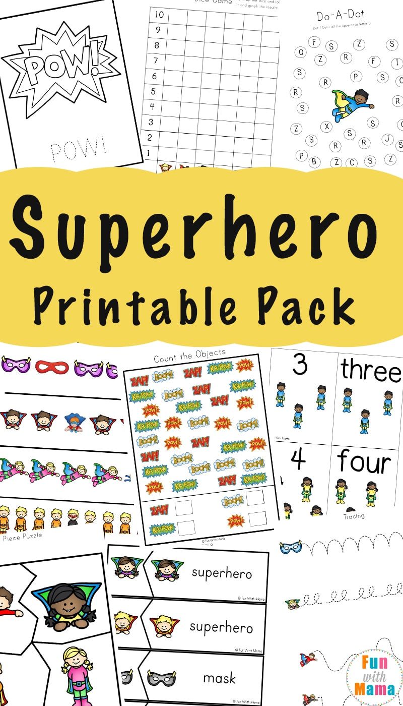 graphic regarding Super Hero Printable named Superhero Video games, Coloring Web pages + Printables - Pleasurable with Mama