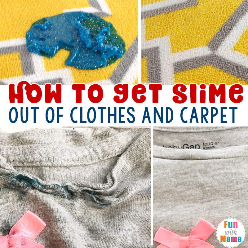 how to get slime out of clothes