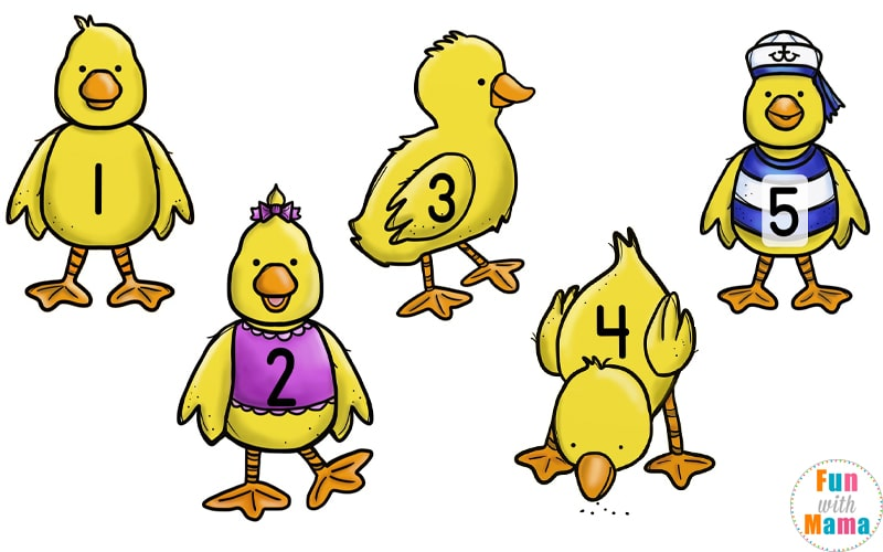 image relating to Printable Duck referred to as Your Little ones Will Appreciate This 5 Very little Ducks Counting