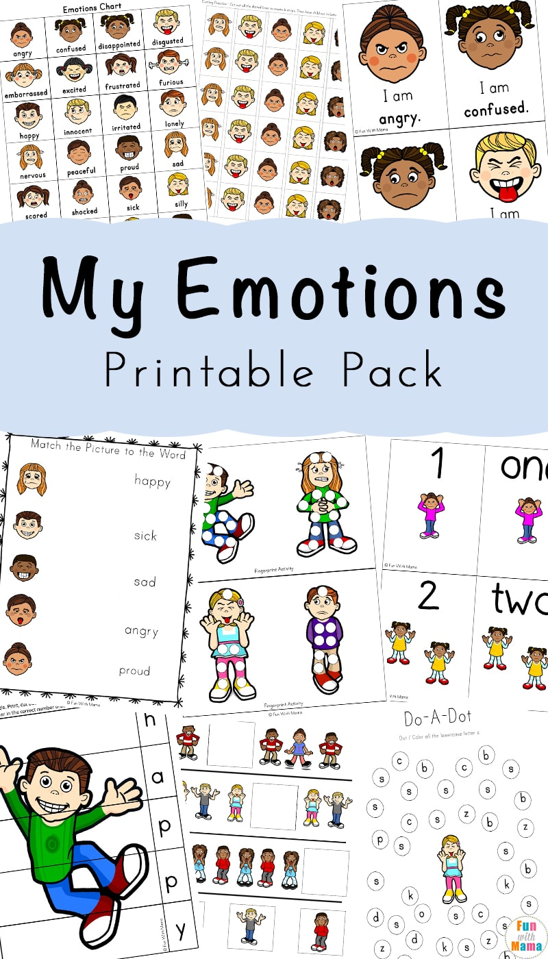 photo regarding Free Printable Emotion Faces named Emotions Things to do + Inner thoughts Worksheets For Little ones - Entertaining