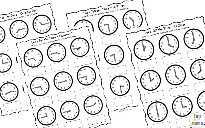 24 hour clock worksheets