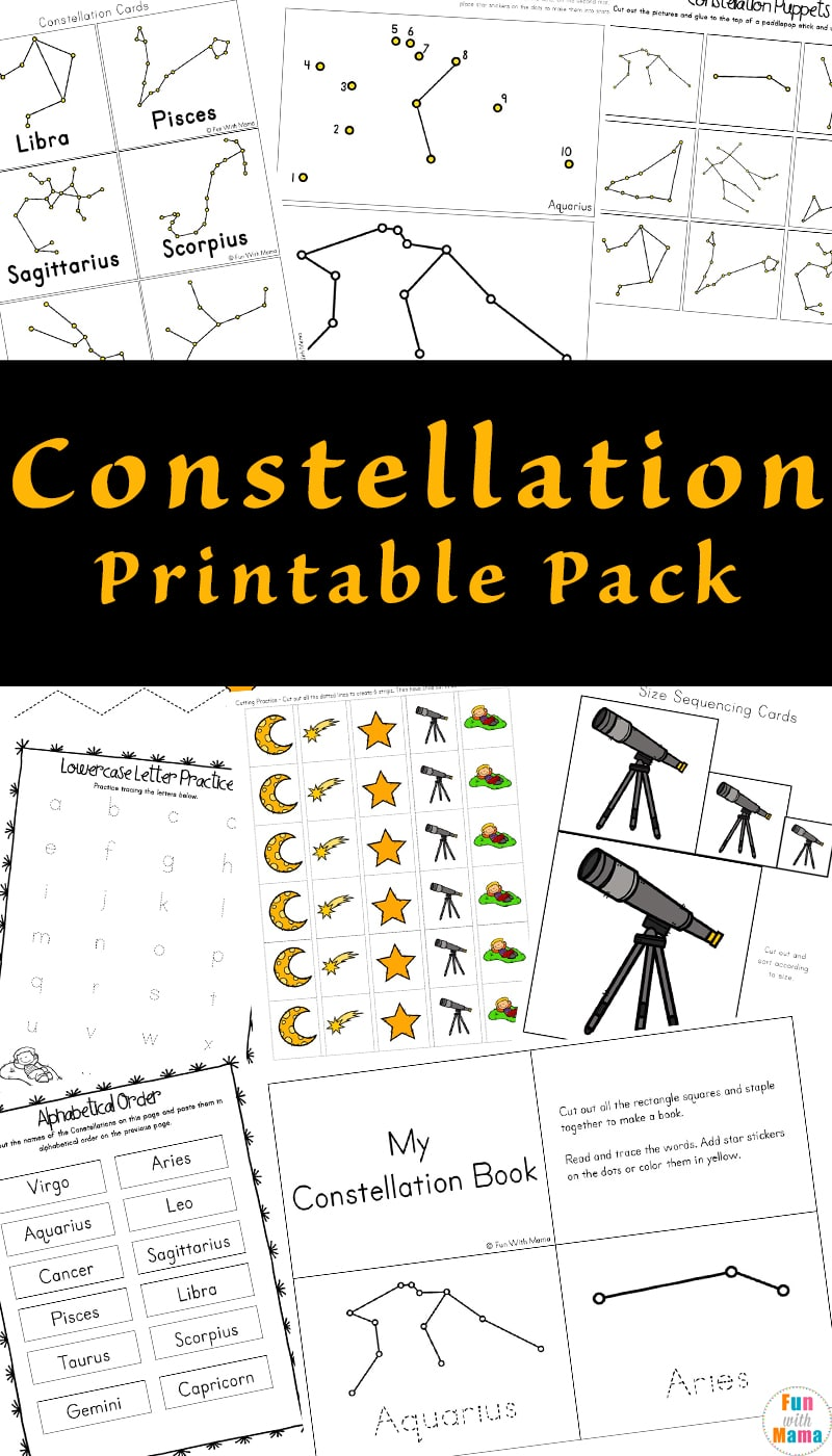 photograph relating to Constellation Printable named Constellation Printable Pack
