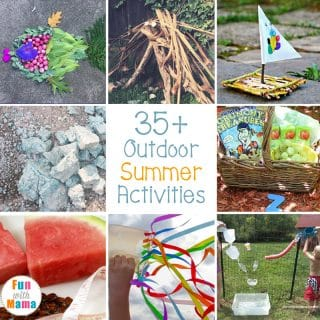 So many Summer Fun Outdoor Activities For Kids. These activities are engaging and entertaining to fill your child's summer with sunshine and easy learning!