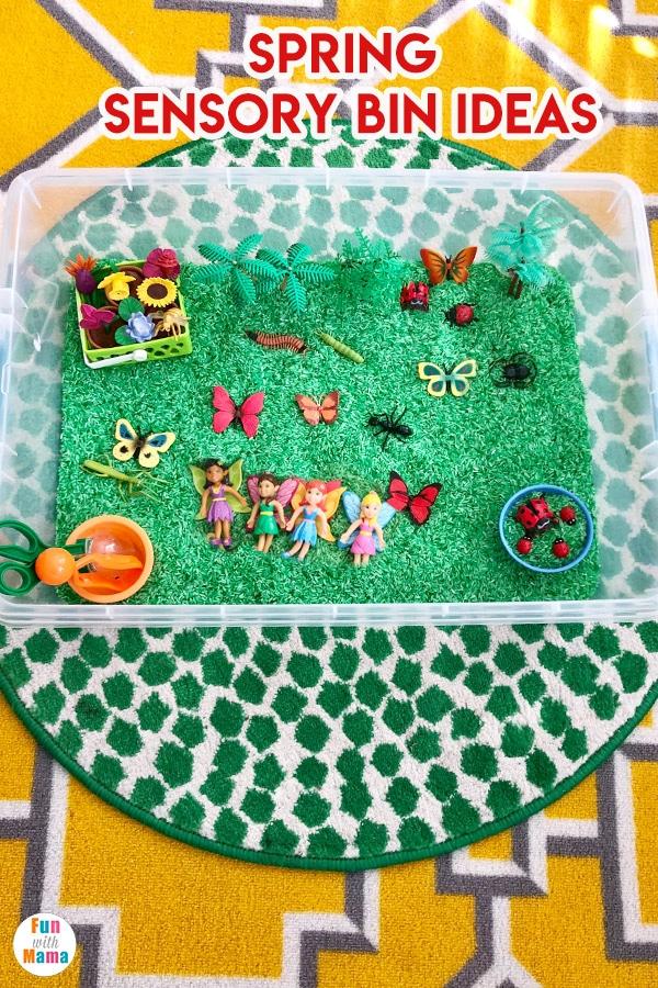 spring theme preschool learning sensory bin ideas and sensory bins