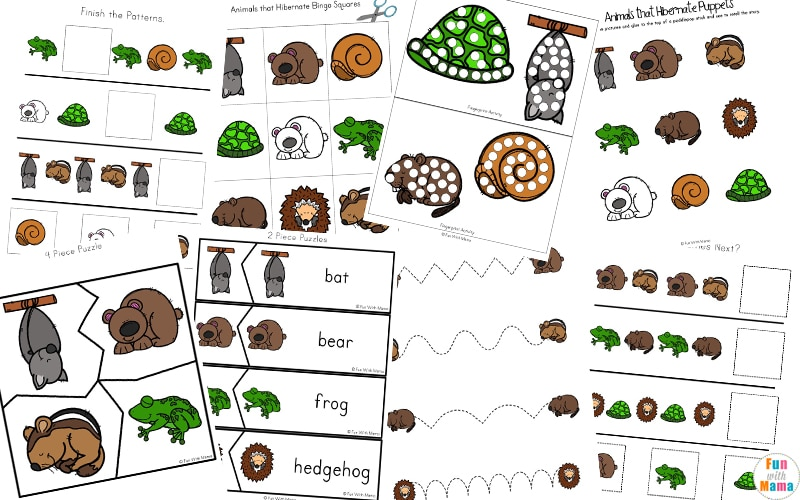 Animals that Hibernate Printable Pack - Fun with Mama