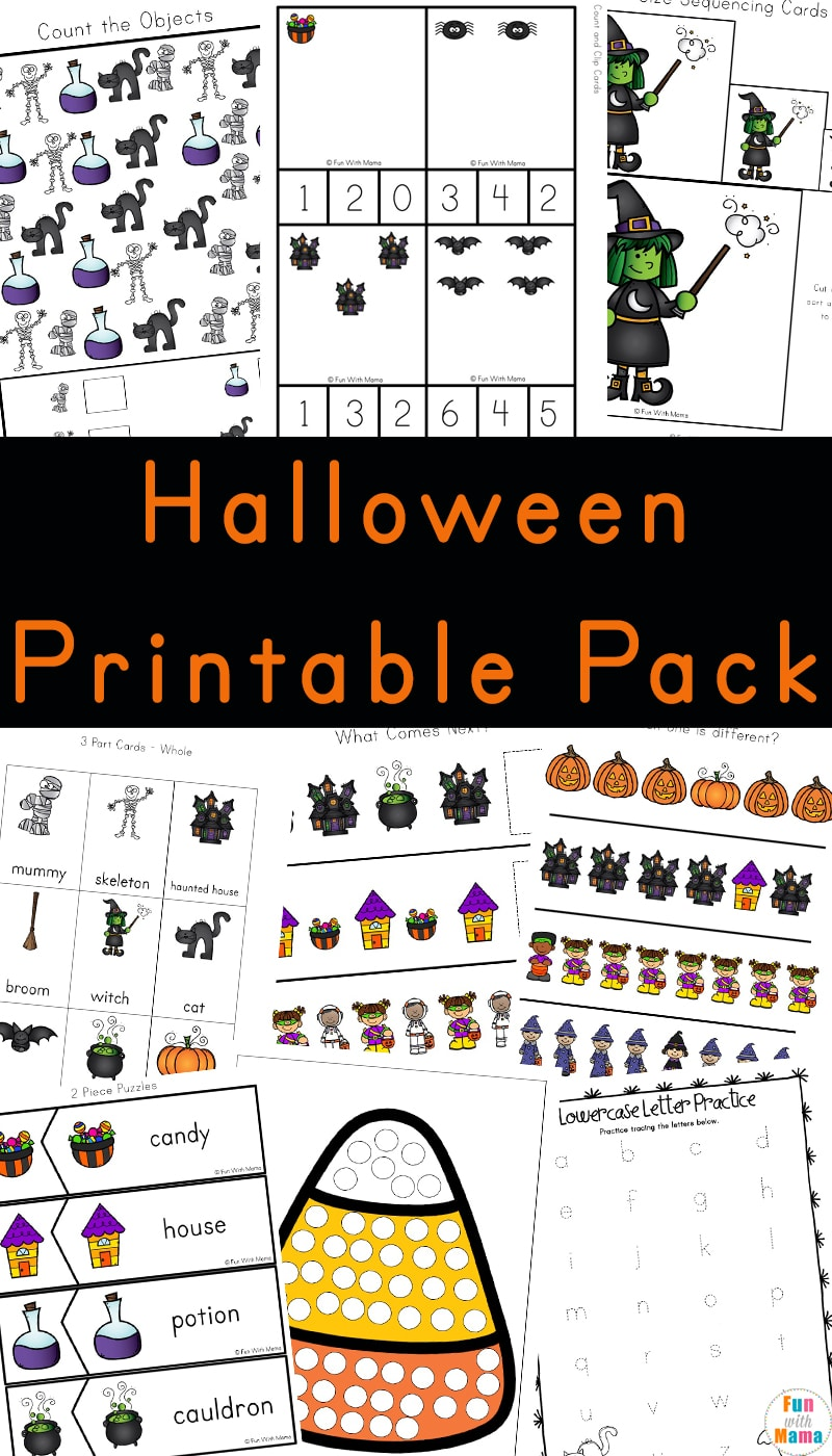 graphic regarding Halloween Printable Puzzles referred to as Halloween Things to do For Preschoolers - Entertaining with Mama