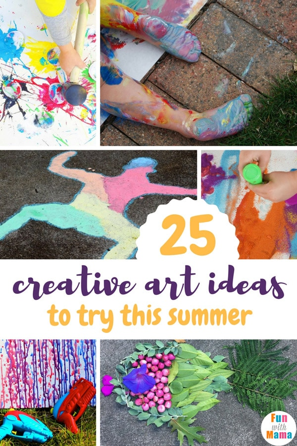 Art Summer Activities For Kids Fun With Mama