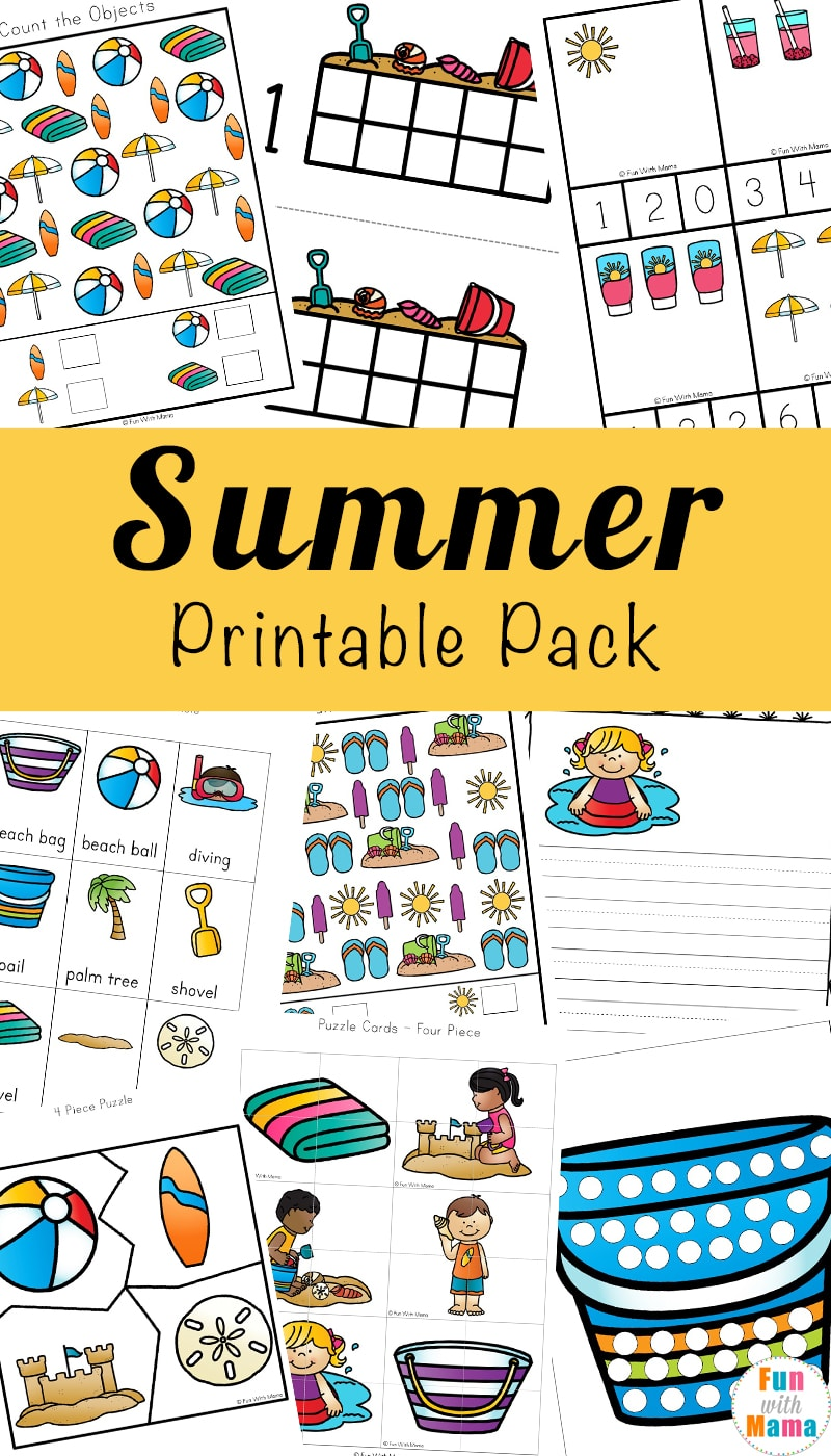 Printable Summer Kids Activities - Fun with Mama