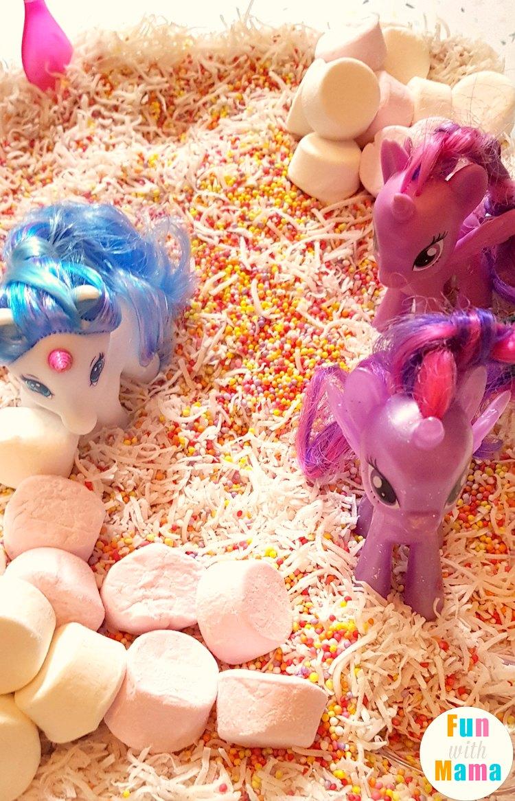 unicorn sensory bin long