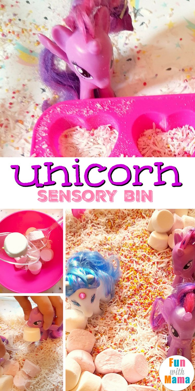 unicorn sensory bin pinterest