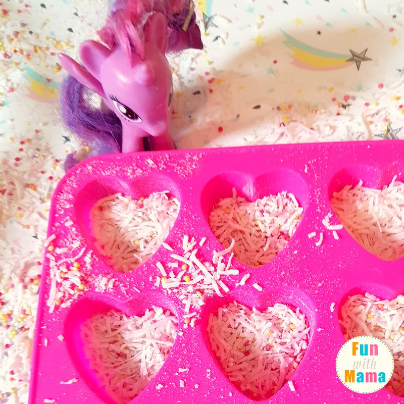 unicorn sensory bin playing 4