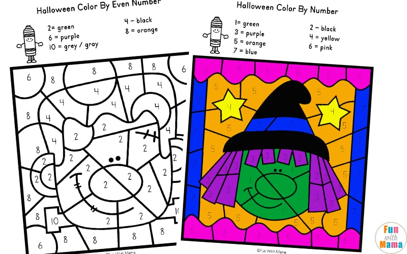 Halloween Color By Number Fun With Mama