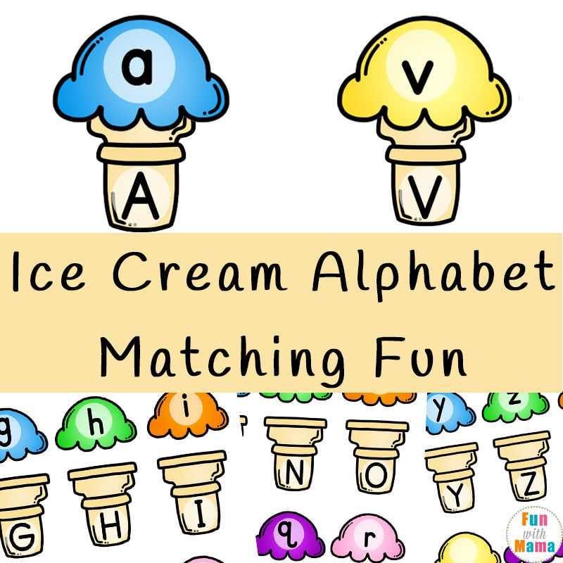 image about Alphabet Matching Game Printable named Ice Product Alphabet Matching Entertaining - Enjoyable with Mama