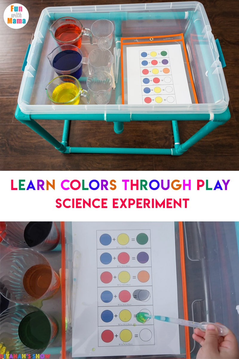 Color Mixing Water Activity For Kids - Fun with Mama