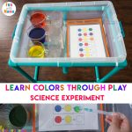Color Mixing Water Activity For Kids