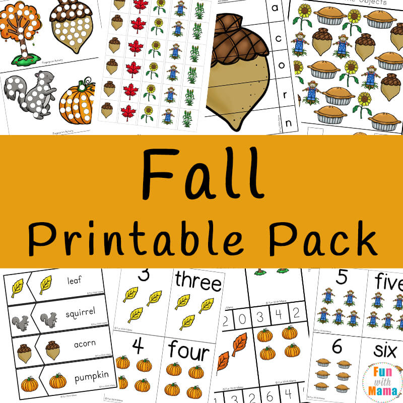 picture regarding Fall Printable Activities named Drop Topic Pursuits For Children - Entertaining with Mama