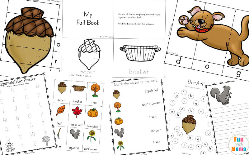 photo relating to Fall Printable Activities titled Slide Concept Pursuits For Little ones - Enjoyment with Mama
