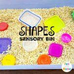 Preschool Shapes Sensory Table