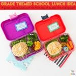 Themed Grade Back To School Lunch Ideas