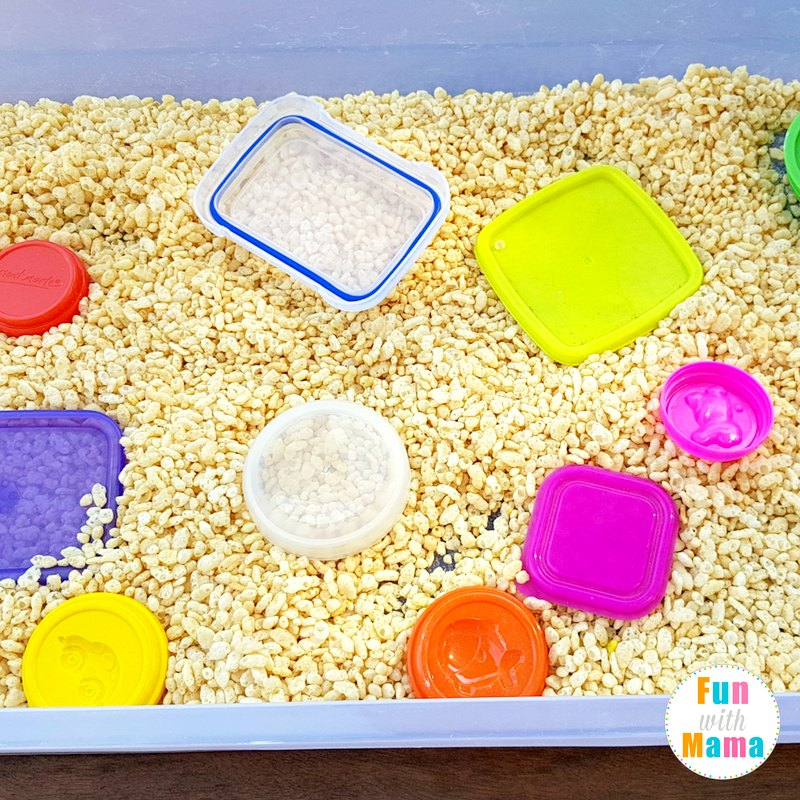 cereal sensory table