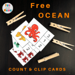 Commotion In The Ocean: Count and Clip Cards