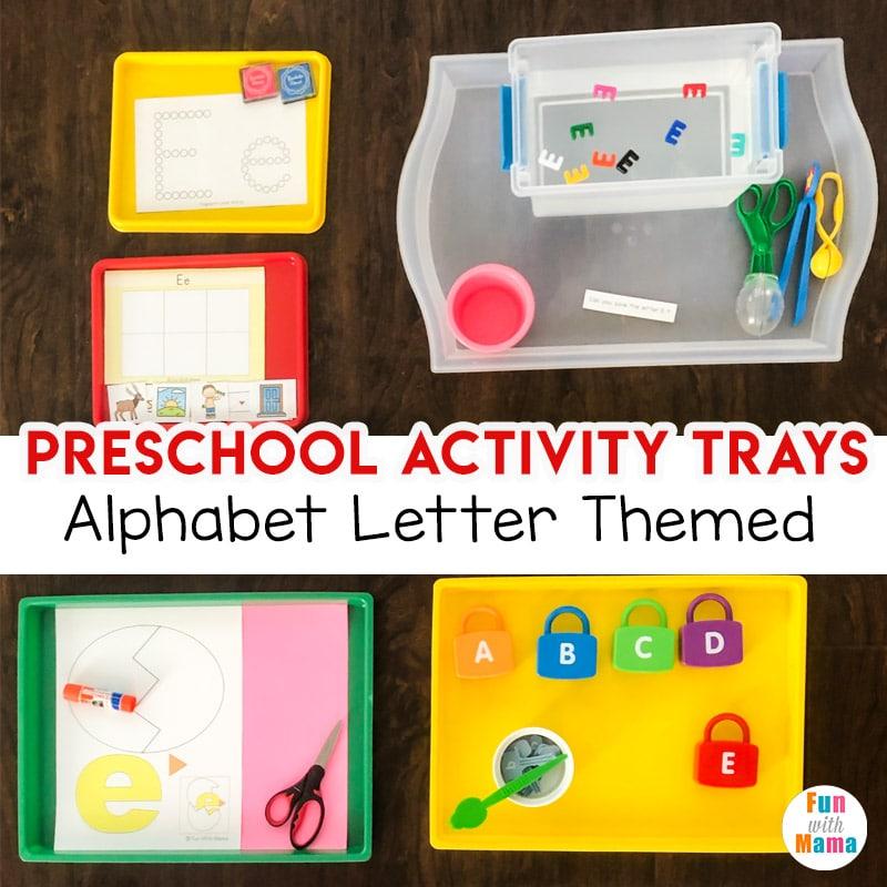 preschool activity trays