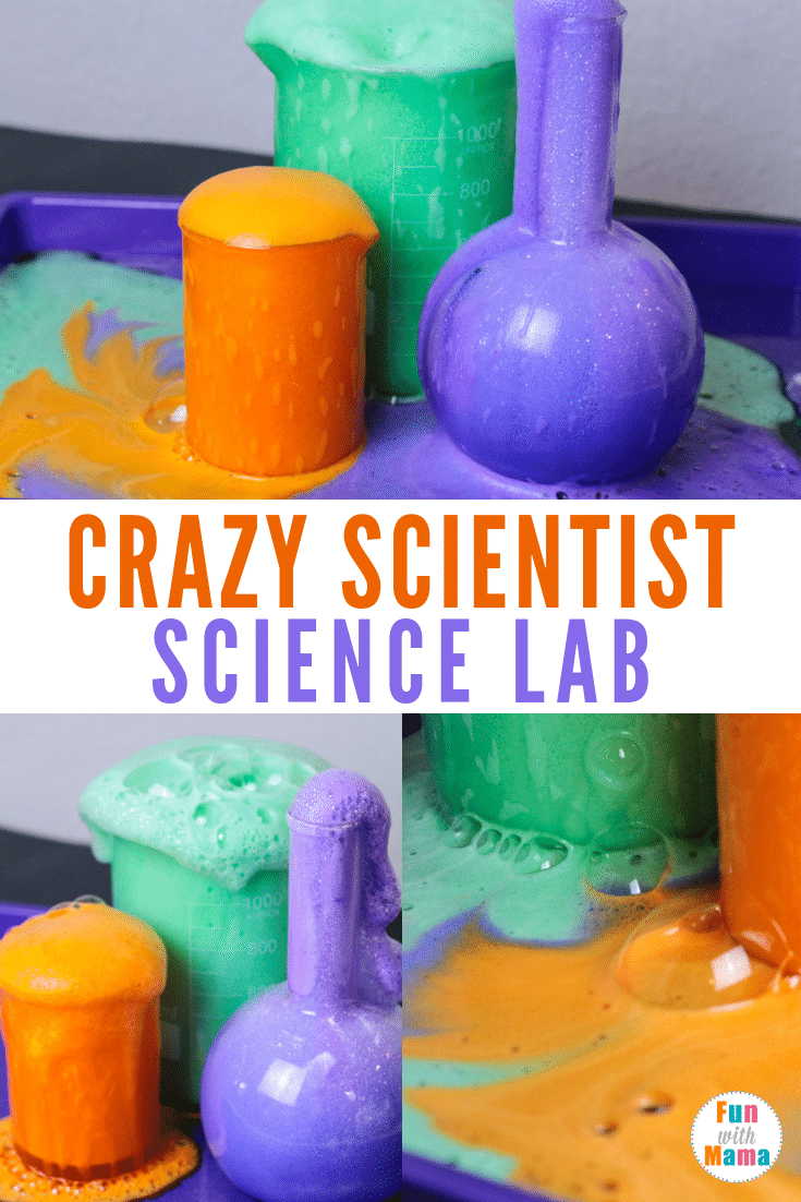 Witch's brew tutorial create a crazy scientist science lab Halloween Science experiment. #halloweenscience #halloween #witchsbrew #sciencelab