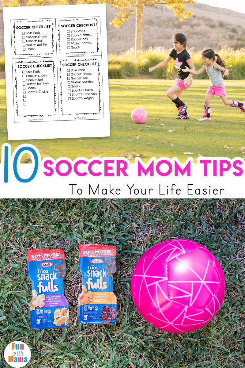 Soccer mom check list including tips, game essentials and soccer snacks for kids after game. Includes soccer printable. #ad #kraftcheese #familygreatly