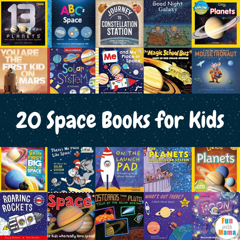 Giant list of space books for kids