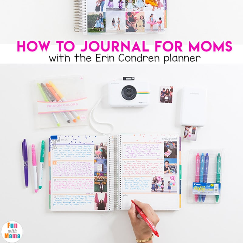 how to journal erin condren planner