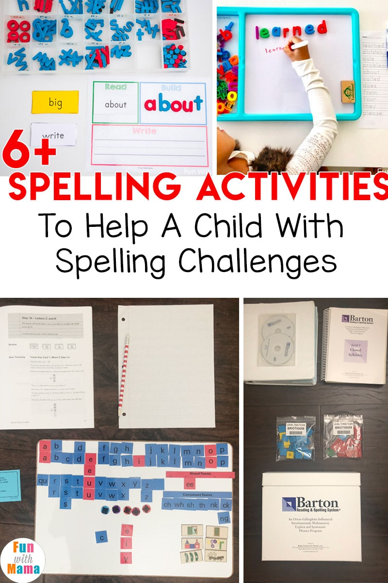 6+ Spelling Activities To Help A Child With Spelling ...