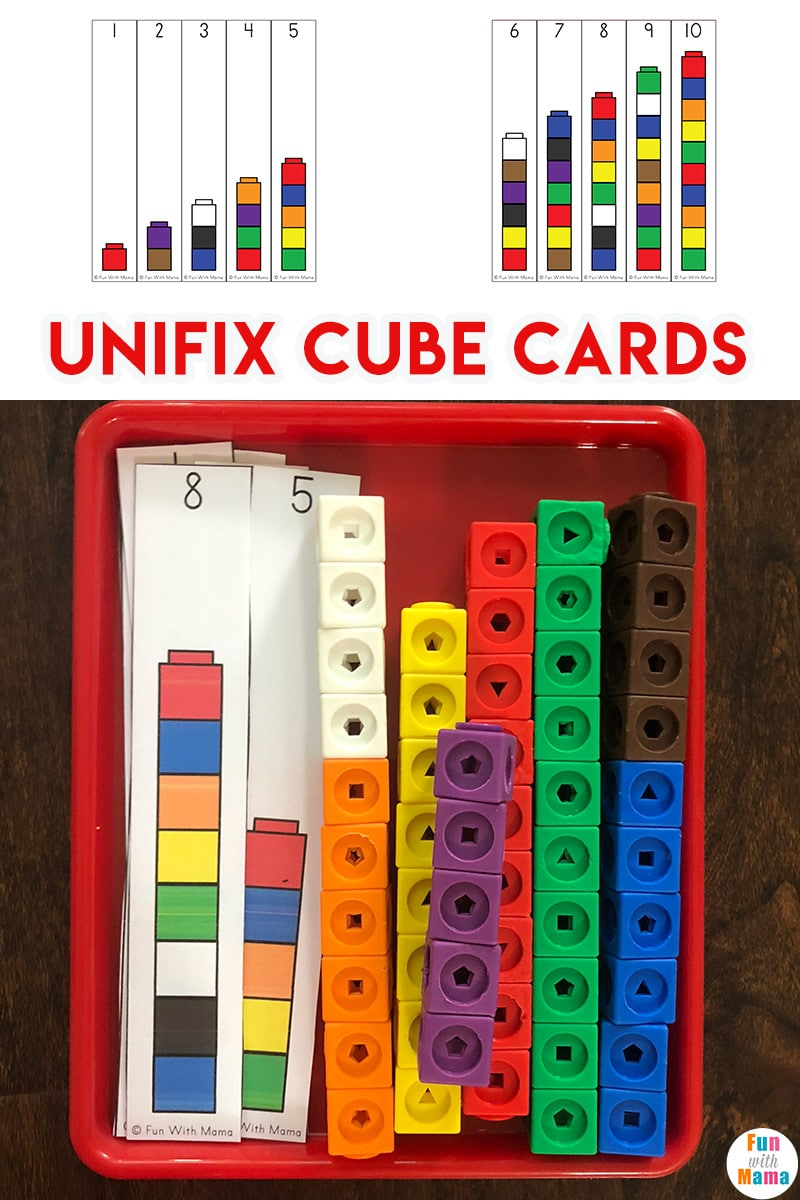 Unifix Cubes For Preschool Math Fun With Mama