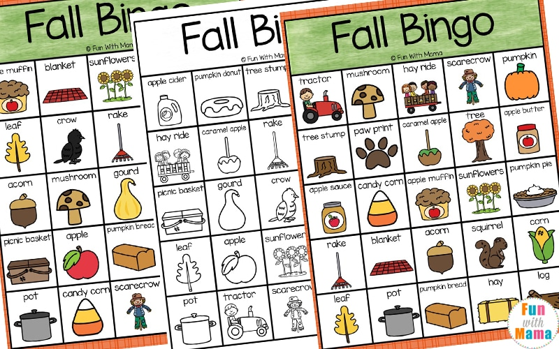 image about Fall Bingo Printable named Slide Bingo - Exciting with Mama