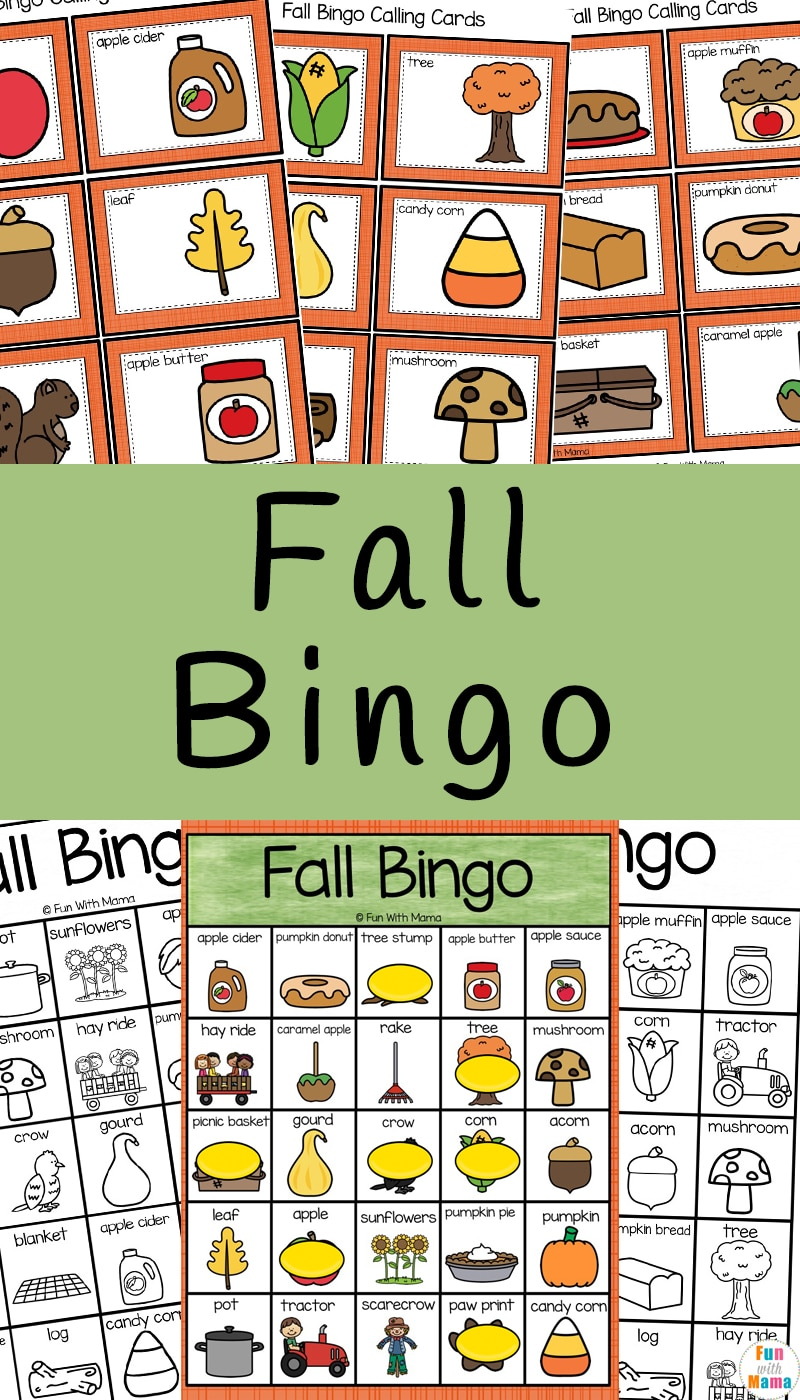 picture about Fall Bingo Printable named Drop Bingo - Enjoyable with Mama