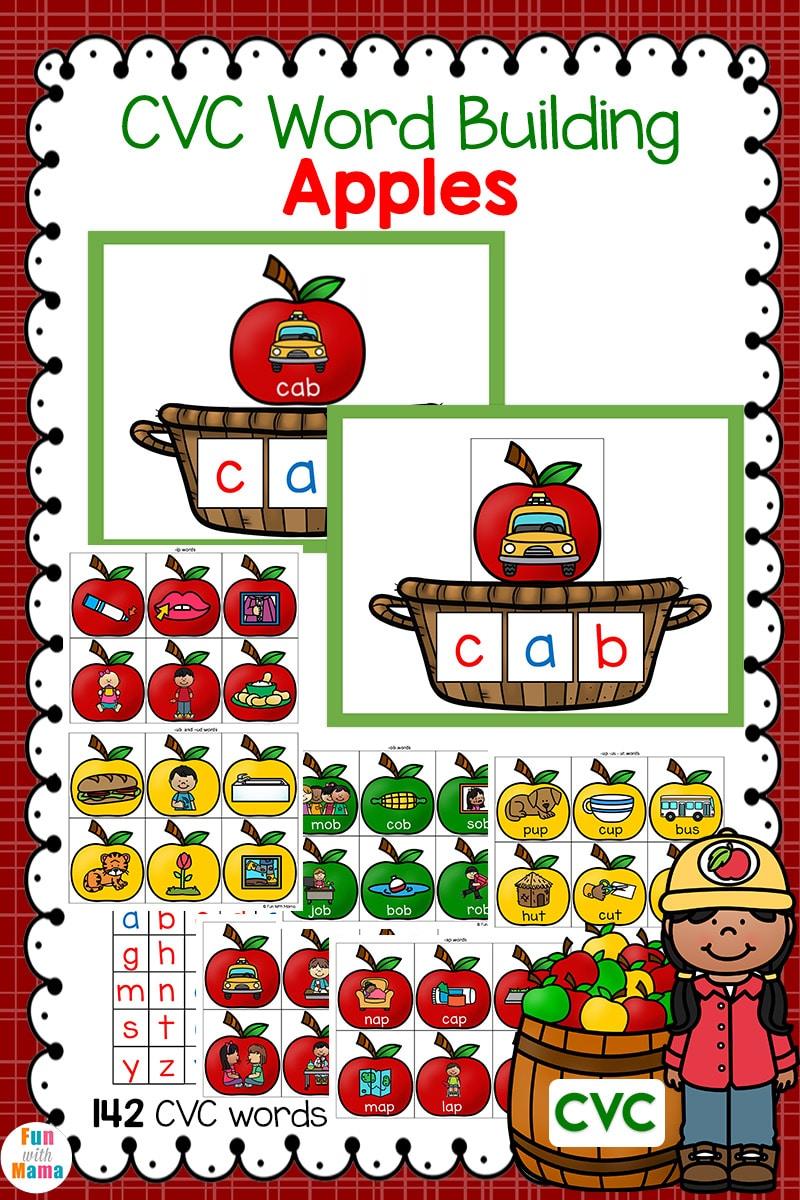 cvc activities word building