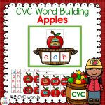 CVC Words With Pictures Apple Themed