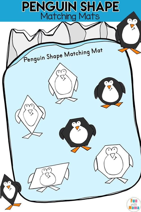 Penguin Shape Matching Mats